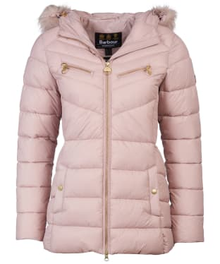 Women's Barbour International Grounding Quilted Jacket - Rose Quartz