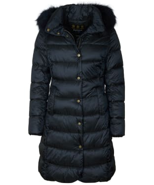 Women's Barbour Earn Quilted Jacket - Black
