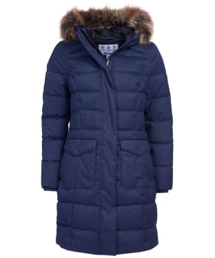 Women's Barbour Guanay Quilted Jacket - Dark Navy
