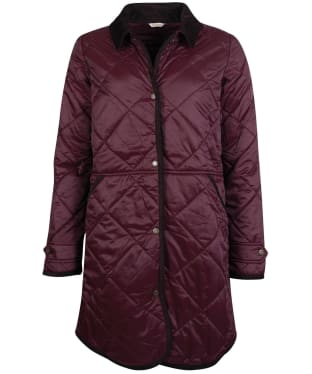 Women's Barbour Peppergrass Quilted Jacket - Eggplant