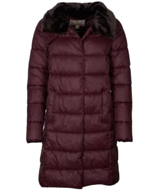 Women's Barbour Teasel Quilted Jacket - Eggplant