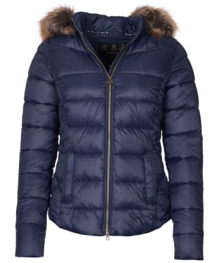 Women's Barbour Irving Quilted Jacket - Navy