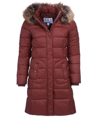 Women's Barbour Bridled Quilted Jacket - Chestnut