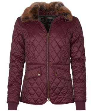 Women's Barbour Hawthorns Quilted Jacket - Winter Blackberry