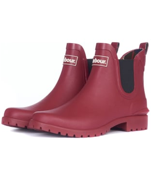 Women's Barbour Wilton Welly - Burnt Red