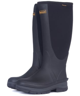 Women's Barbour Cyclone Neoprene Wellington Boots - Black