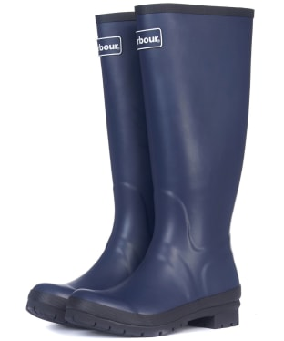 Women's Barbour Abbey Wellington Boots - Navy