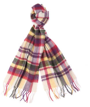 Women's Barbour Vintage Winter Plaid Scarf - Golden Spice