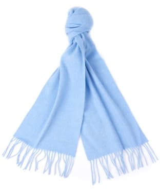 Women's Barbour Lambswool Woven Scarf - Forever Blue