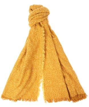 Women's Barbour Megan Boucle Wrap - Golden Yellow