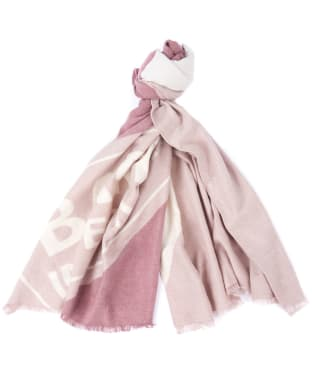 Women's Barbour International Lydden Scarf - Rose Quartz/Calico