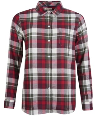 Women's Barbour Hedley Shirt - Blackberry Check