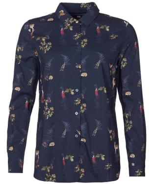 Women's Barbour Ingham Shirt - Navy Print
