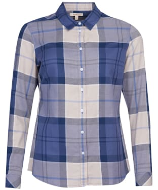 Women's Barbour Bredon Shirt - Light Blue Tartan