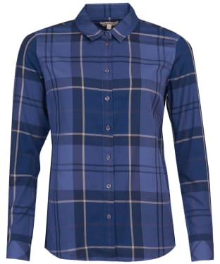 Women's Barbour Bredon Shirt - Tempest Blue Tartan