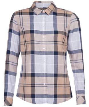 Women's Barbour Bredon Shirt - Oatmeal Tartan