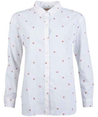 Women's Barbour Murrelet Shirt - Off White Print