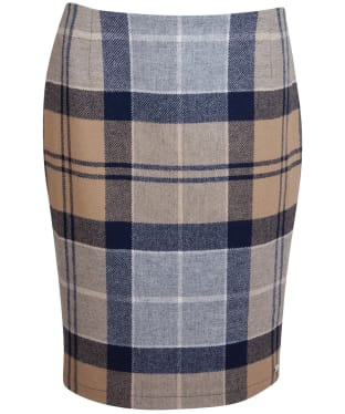 Women's Barbour Nebit Pencil Skirt - Oatmeal Tartan