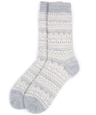 Women's Barbour Alpine Fairisle Socks - Grey