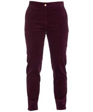 Women's Barbour Essential Cord Chinos - Aubergine