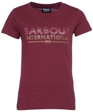 Women's Barbour International Knockhill Tee - Port