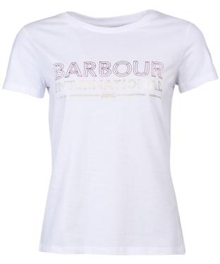 Women's Barbour International Knockhill Tee - White