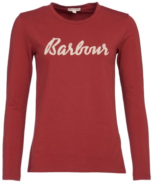Women's Barbour Rebecca L/S Tee - Burnt Red