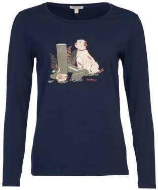 Women's Barbour Hedley L/S Tee - Navy