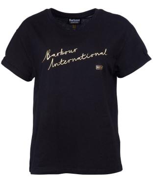 Women's Barbour International Cadwell Tee - Black