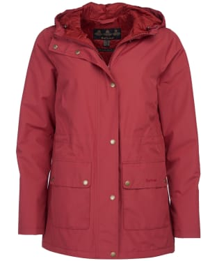 Women's Barbour Oak Waterproof Jacket - Burnt Red