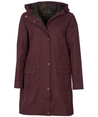 Women's Barbour Linwood Waterproof Jacket - Winter Blackberry
