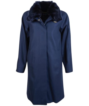 Women's Barbour Kelvwin Wool Jacket - Navy