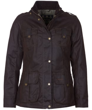 Women's Barbour Winter Defence Waxed Jacket - Rustic
