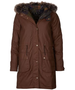 Women's Barbour Mull Waxed Jacket - Bark