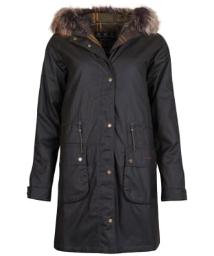 Women's Barbour Mull Waxed Jacket - Olive