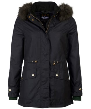 Women's Barbour International Croft Waxed Jacket - Sage