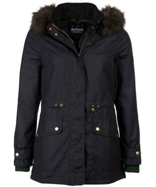 Women's Barbour International Croft Waxed Jacket - Sage