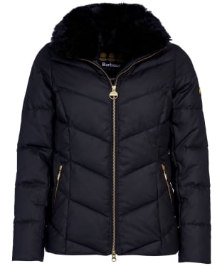 Women's Barbour International Cadwell Waxed Jacket - Black