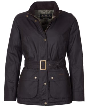 Women's Barbour Montgomery Waxed Jacket - Rustic