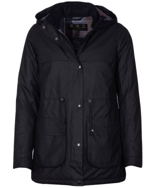 Women's Barbour Cassley Waxed Jacket - Black