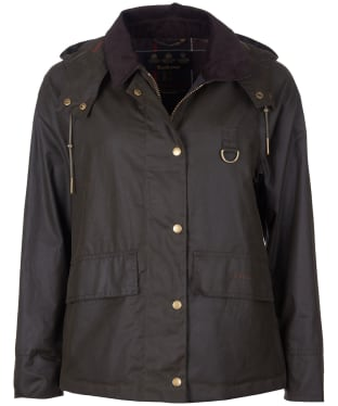 Women's Barbour Avon Waxed Jacket - Olive