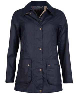 Women's Barbour Fiddich Waxed Jacket - Navy