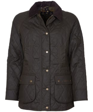 Women's Barbour Gibbon Waxed Jacket - Olive