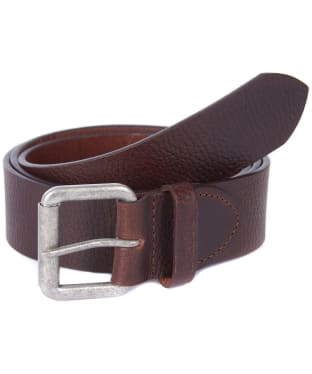 Men's Barbour Grain Leather Belt - Brown