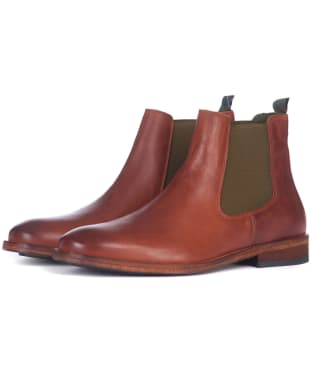 Men's Barbour Bedlington Leather Chelsea Boots - Tan