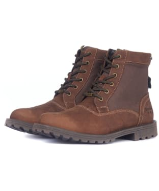 Men's Barbour Cheviot Derby Boots - Conker Brown