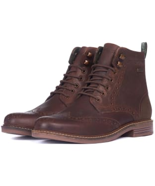 Men's Barbour Seaton Derby Shoes - Teak