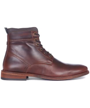 Men's Barbour Backworth Leather Derby Boots - Mahogany