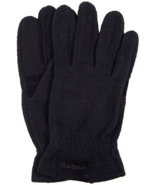 Men's Barbour Fleece Country Gloves - Black