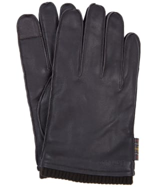 Men's Barbour Bampton Leather Gloves - Dark Brown